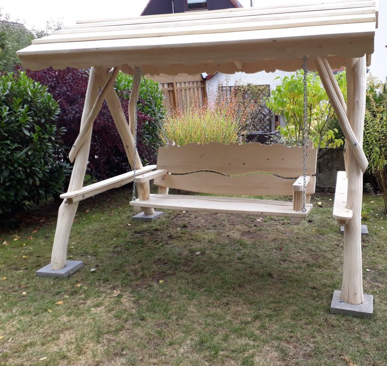 XL Holz Garten – Hollywood – Schaukel mit Dach